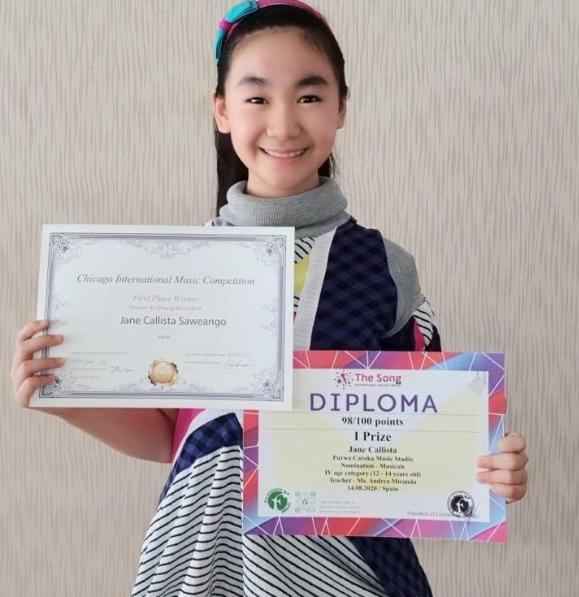Gadis Indonesia Juara Kompetisi Bernyanyi Online Eropa dan Amerika, Jane Callista