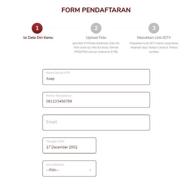 Form Pendaftaran LIDA 2021