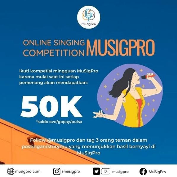 Kompetisi Menyanyi Gratis Untuk Umum Berhadiah Setiap Minggu