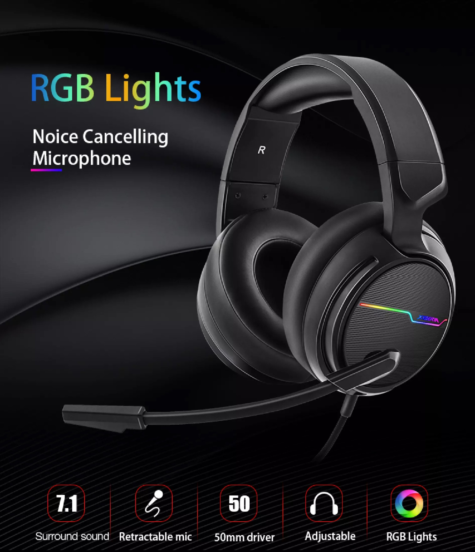 Gaming Headset for PC game Headphone 7.1 Surround Sound