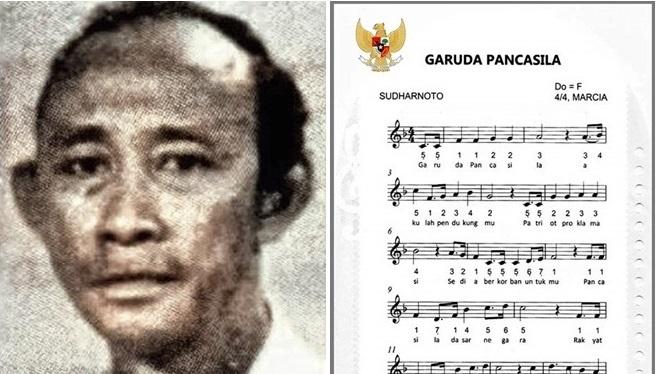 Sudharnoto, Pencipta Lagu Garuda Indonesia